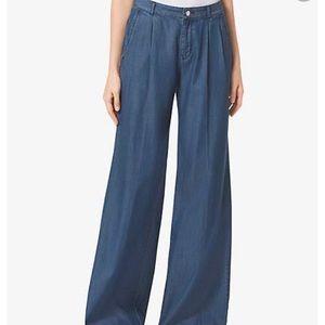 MK Michael Kors Chambray Wide Leg Indigo Pants